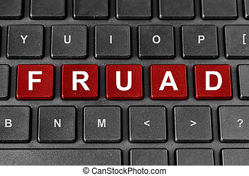 fraud word on keyboard - fraud red word on keyboard,...