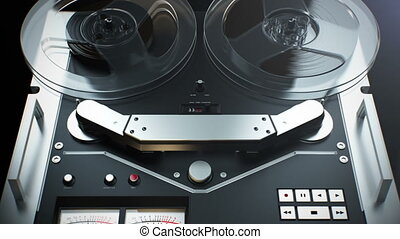 Vintage reel to reel tape. - Old Retro Reel Audio Recorder...