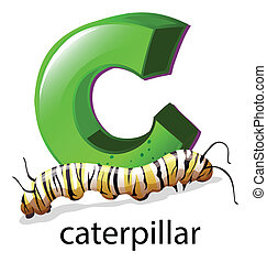 A letter C for caterpillar - Illustration of a letter C for...