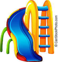 A coloured play slide - Illustration of a coloured play...