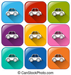 Car icons - Illustration of the car icons on a white...