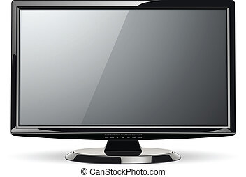 Monitor TV - Monitor, led TV, vector illustration.