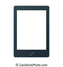 Portable e-book reader with two clipping path for book and...