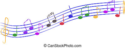 Playful Musical Notes - Lot of colorful musical vector notes...