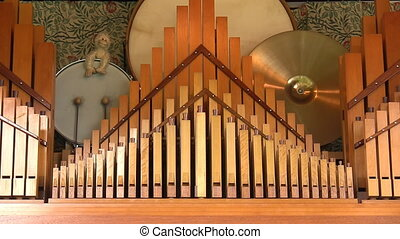Close up of fairground organ