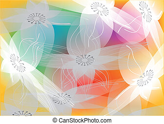 floral swirls - floral swirl. abstract floral background in...