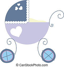 baby carriage - isolated baby carriage in vector format,...