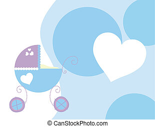 baby carriage background