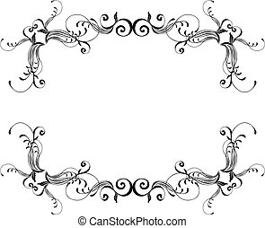 vector ornamental frame, individual objects very easy to...