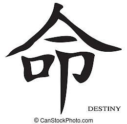 Destiny Chinese Character - The Chinese character for...