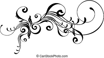 caligraphic ornament - isolated vector design elements very...
