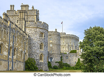 Medieval Windsor castle in Berkshire, England - Windsor...