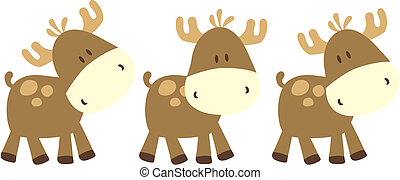 childish moose - childish ilustration of baby deer, very...