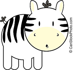 cute baby zebra - isolated baby zebra, individual objects...