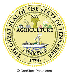 Seal of Tennessee - The State Seal of Tennessee on a white...