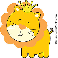 baby lion king - isolated baby lion king, individual objects...