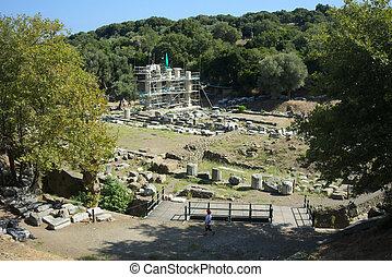 Temple of the Great Gods at Samothrace - SAMOTHRACE, GREECE...