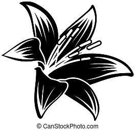 tropical flower - floral ilustration in vector format very...