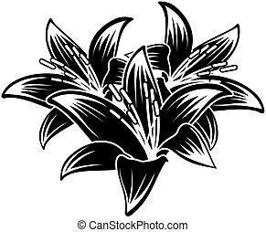 tropical flowers - floral ilustration in vector format very...