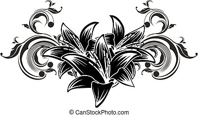 ornamental flowers design - floral ilustration in vector...