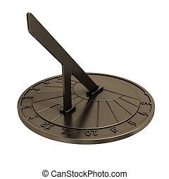 Sundial. 3D Model.