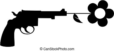 pacifist weapon - metaphoric image related to peace, no...