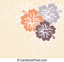 island flowers - flowers ilustration in vector format very...