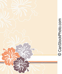 honolulu flowers - flowers ilustration in vector format very...