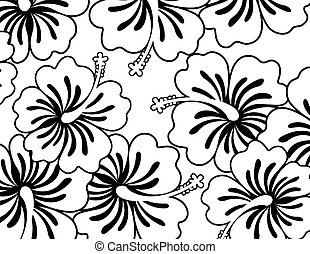 hibiscus wallpaper - flowers ilustration in vector format...