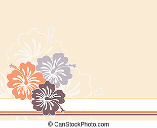hawaii flowers - flowers ilustration in vector format very...