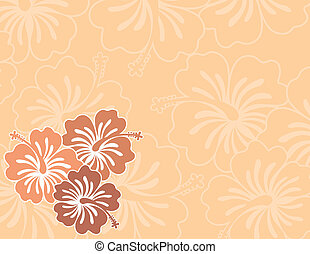 hibiscus background - flowers ilustration in vector format...