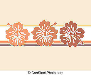 honolulu style - flowers ilustration in vector format very...