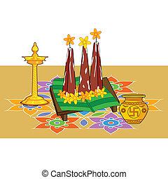 Poorada Uttigal for Onam decoration in vector
