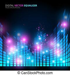 music equalizer - Illustration of music equalizer bar in...