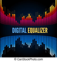 Abstract music equalizer. Vector template
