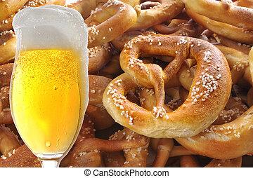 Beer and Pretzel Collage
