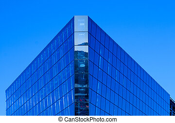 Modern Building against deep blue sky