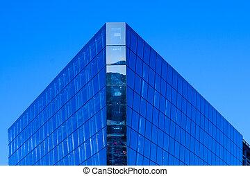 Modern Building against deep blue sky