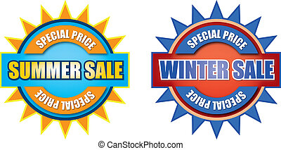 Summer and winter sale sign