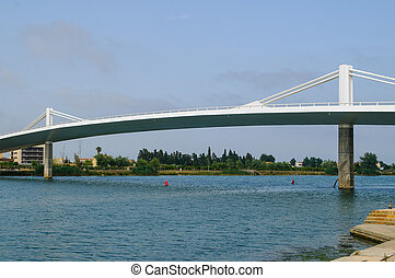 Deltebre bridge - Bridge linking the towns of deltebre i...