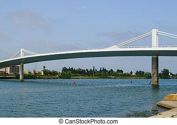 Deltebre bridge - Bridge linking the towns of deltebre i...