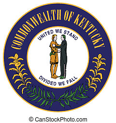 Seal of Kentucky - The State Seal of Kentucky on a white...