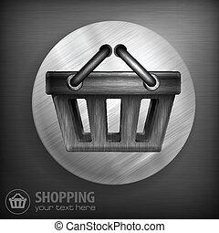 Shopping basket background