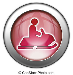 Icon, Button, Pictogram Snowmobiles - Icon, Button,...