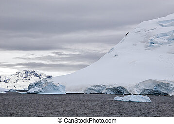 Antarctica In A Cloudy Day