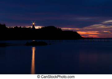 First Light at Swallow Tail on Grand Manan