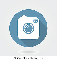 Camera Like Instagram Icon With Flat Design - Camera like...