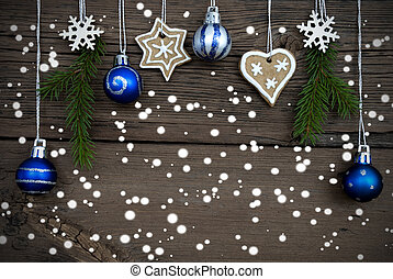 Winter Decorated Christmas Background with Snow - Winter...