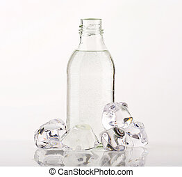 Bottle of water - Purified water in a glass bottle