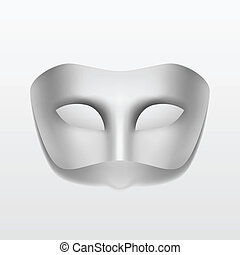 Vector Carnival Masquerade Party Mask Isolated on White...